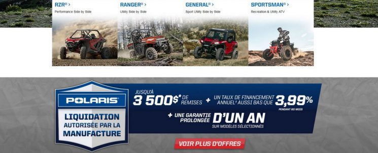 Promotion – POLARIS LIQUIDATION DU MANUFACTURIER