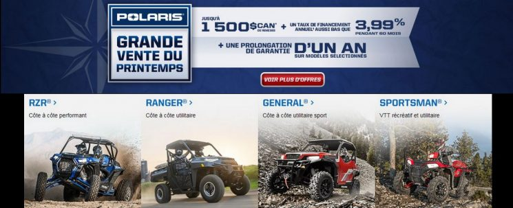 Promotion – Polaris ventes du printemps