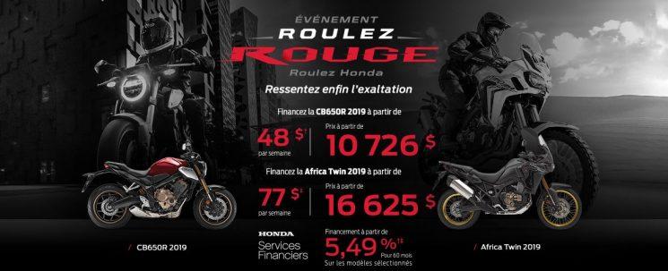Honda – ROULEZ ROUGE!