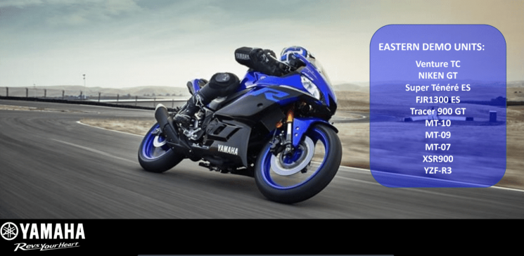Démo Ride Yamaha, Jeudi 06 Juin 2019 dès 10 heures.