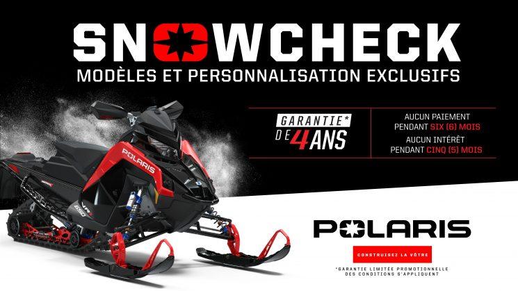 VENTES SNOWCHECK 2021 MOTONEIGE POLARIS