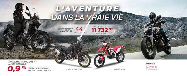 L'AVENTURE DANS LA VRAIE VIE HONDA MOTOS