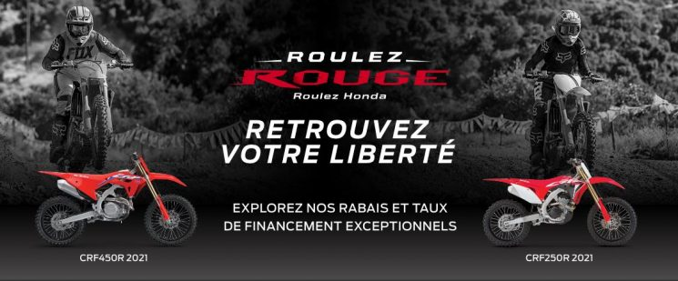 ROULEZ ROUGE HONDA MOTOS