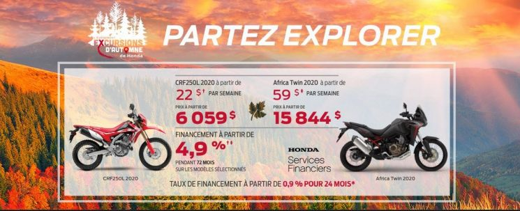 EXCURSIONS D'AUTOMNE HONDA MOTOS