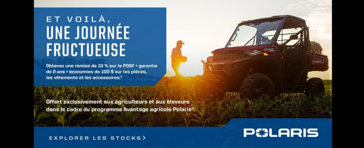 PROMOTION SPECIALE AGRICULTEURS POLARIS OFF ROAD