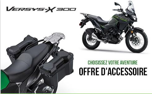 ACCESSOIRES VERSYS-X 300 GRATUITS SUR MODÈLES 2019/2020