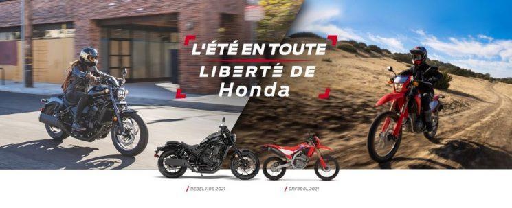L'ETE EN TOUTE LIBERTE HONDA MOTOS