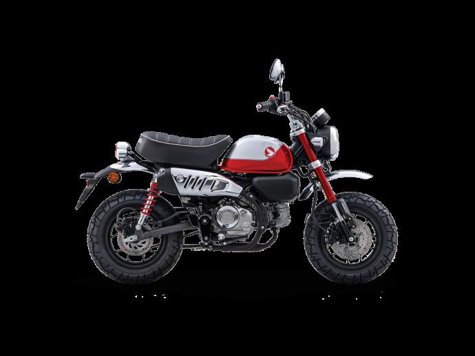 Honda MONKEY Rouge nébuleuse nacré / argent chevalier métallisé 2022